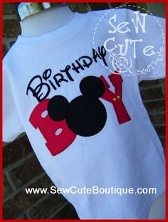 Birthday Boy (Mickey Mouse) https://www.facebook.com/Karoline.SewCuteBoutique