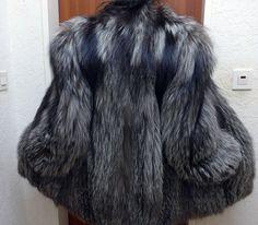 Pelzjacke, silberfuchs Pelzjacke,Silverfox Fur Jacket | eBay