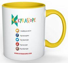 Kyrascope Branded Milk Mug ( Yellow Back)