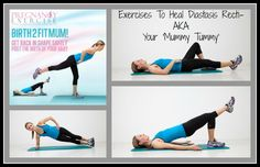 Postpartum exercises for Diastasis Recti: Postnatal exercises to heal your mummy tummy AKA Diastasis Recti #postnatalexercise #postnatalfitness #postpartumexercise