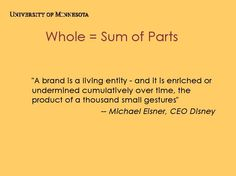 Whole = Sum of Parts