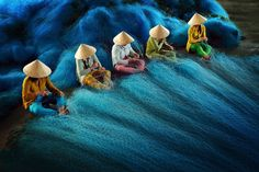 "Winner, Asia-Pacific – ""Net Mending"" by Ly Hoang Long 