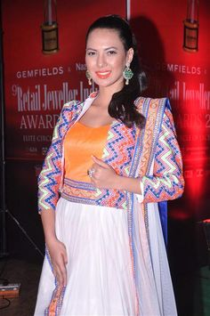 Miss India second runner up Zoya Afroz during the Retail Jeweller India Awards 2013 in Mumbai on August 10, 2013