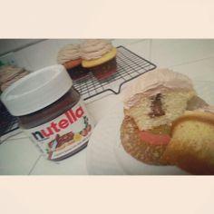 Nutella stuffed cupcakes