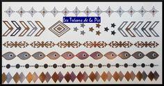 TATOUAGES TEMPORAIRES TATOO XL - Body art - Graphique - Doré, argenté & noir