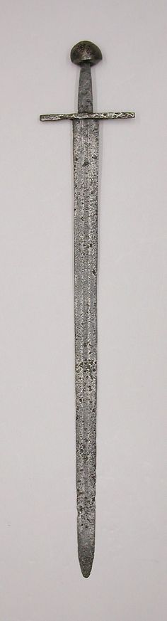 Sword, poss. 12th-early 13th century, western European, iron. Met. Museum