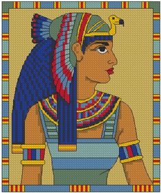 Advanced Embroidery Designs - Queen Cleopatra