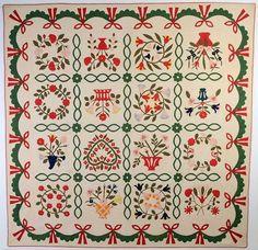 Album Quilt: Circa 1860