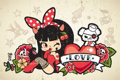 Charuca Gothic Love Tattoos on Character Design Served