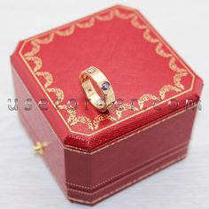 Cartier Love Ring, Cartier Love Bracelet, She Belongs To Me, Rings Online, Happy Women, Dream Ring, Gemstone Colors, Pink And Gold, Decorative Boxes