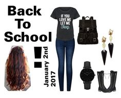 """""""Back To School"""" by spiritmist ❤ liked on Polyvore featuring 2LUV, LC Trendz, CLUSE, Alexis Bittar and Proenza Schouler"""