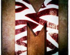 Hand painted letter by studiotracey on Etsy