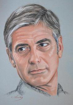 George Clooney portrait by on DeviantArt Charcoal Portraits, Pastel Portraits, Celebrity Drawings, Celebrity Portraits, George Clooney, Pencil Portrait, Portrait Art, Soft Pastel Art, Iconic Movies