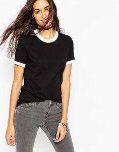 ASOS+Tipped+T-Shirt