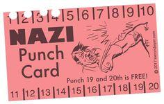 Nazi punch card /// Antifa