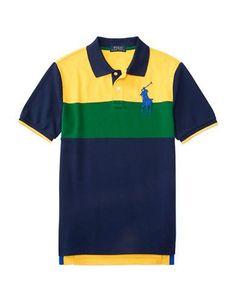Ralph Lauren Childrenswear Boys 8-20 Short Sleeve Cotton Polo Tee  Yel