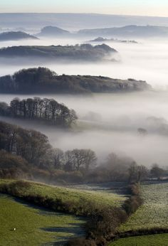 wanderthewood: View from Quarr Hill, Dorset, England by lakemans