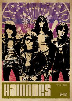 Ramones Punk Poster