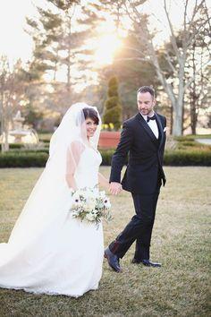 Photography: Kay English - www.kayenglishphotography.com  Read More: http://www.stylemepretty.com/2014/07/11/black-tie-new-jersey-estate-wedding/
