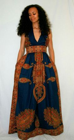 African Print Maxi Dress by Melange Mode i African Inspired Fashion, African Print Fashion, Fashion Prints, African Attire, African Wear, African Women, African Style, African Print Dresses, African Dress