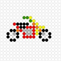 Kralenplank Motor Perler Beads, Fuse Beads, Cross Stitch Designs, Cross Stitch Patterns, Free Printable Puzzles, Safety Pin Crafts, Easy Perler Bead Patterns, Bobble Crochet, Pixel Art Templates