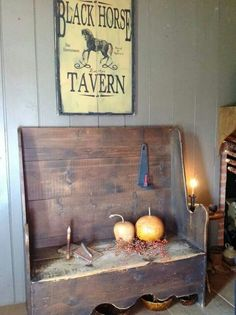 ♥ prim bench & tavern sign