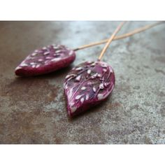 Petal Headpins Mulberry - set of 2 | Humblebeads