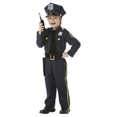 Police Officer  5 Piece Costume Set  Size Small (4-6)