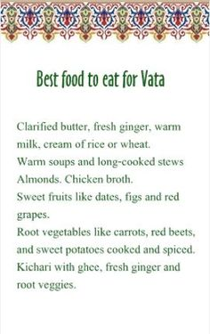 After Yoga - Best food for Vata Surely many times you have heard that if you consume carbohydrates (HC) while you train you will burn less fat and most of the positive effects of training will go to waste. Ayurvedic Healing, Ayurvedic Recipes, Ayurvedic Medicine, Ayurvedic Diet, Ayurvedic Therapy, Holistic Healing, Pitta Dosha Diet, Ayurveda Dosha, Pranayama