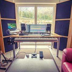 No photo description available. Recording Studio Furniture, Home Recording Studio Setup, Home Studio Setup, Studio Table, Studio Desk, Audio Studio, Music Studio Room, Sound Studio, Music Desk