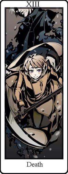 Hetalia Tarot Cards. Death Card XIII Russia