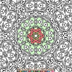 Adult Coloring Pages Kaleidoscope Pattern Designs Printable