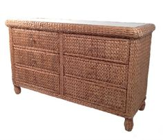 Seagrass Double Dresser - Miramar #seagrass #bedroom #furniture #dresser