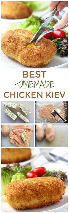 This Chicken Kiev Recipe is a BOMB. Follow my EASY step-by-step instructions to get the best AUTHENTIC Chicken Kiev. It's so good, you'll be making it again! #chickendinner #ChickenRecipes #easychickenrecipes