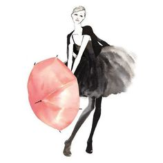 Pink Umbrella ❤ liked on Polyvore featuring accessories, umbrellas and pink umbrella