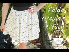 Cómo hacer una falda circular fácil - YouTube Gifts For Teens, Outfits For Teens, Lace Skirt, Midi Skirt, Diy Summer Clothes, Diy Clothes Videos, Refashion, Tutu, Fashion Looks