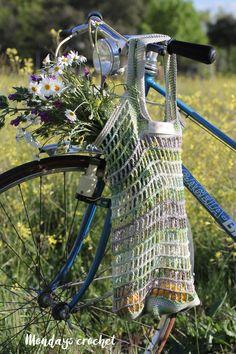 Bolsa de red de crochet. Patrón gratuito / Crochet market bag. Free pattern