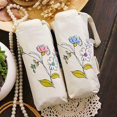 Female Umbrallas Sun or Rain Mini Phone Pocket Size Flower Umbrella For Women #Affiliate