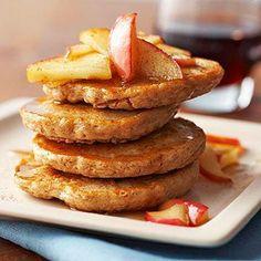 Spiced Oatmeal Pancakes with Sautéed Apples