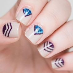 The Nailasaurus Latest Articles | Bloglovin' - Chevron Nail Art with piCture pOlish