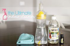 The Ultimate DIY Window Cleaner: fingerprints and dog nose prints don't stand a chance with this fantastic inexpensive cleaner! The ultimate window cleaning recipe by A Bowl Full of Lemons