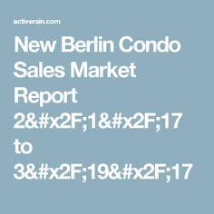 New Berlin Condo Sales Market Report 2/1/17 to 3/19/17