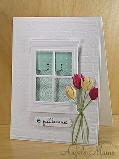 CC420 Pool House Window by Arizona Maine - Cards and Paper Crafts at Splitcoaststampers
