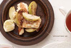 'Salted Caramel' Haloumi + Apple via @iquitsugar