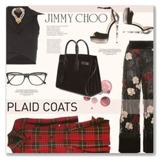 """""""#270 Style Me Up - Plaid Coat: 05/01/16"""" by pinky-chocolatte ❤ liked on Polyvore featuring Jimmy Choo, Comme des Garçons, Ganni, Romeo Gigli, Chanel, Yves Saint Laurent and Roberto Cavalli"""