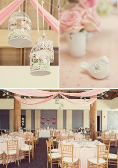 Shabby chic, pink and birdcages combined has me head over heels, but throw in ruffle tutus, banana cream shooters & a bubbly bar, and I'm in LOVE!