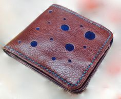 Recycled Leather Bi-Fold Wallet by ApieceofAnton on Etsy