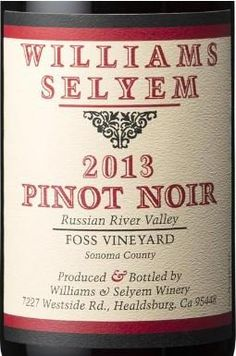 2013 Williams Selyem Pinot Noir Foss Vineyard