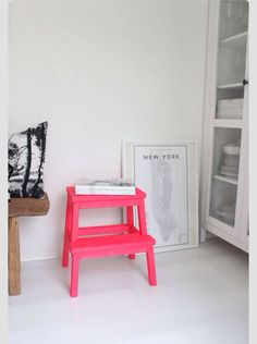 Neon, diy, table, pink, love