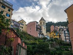 terre building exterior built structure cloud - sky residential district no people low angle view Cinque Terre, Building Exterior, Adventure Travel, Low Angle, Tourism, Scenery, Europe, Clouds, Italy